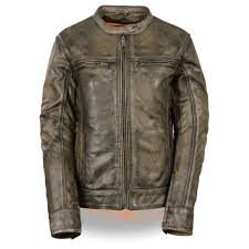 women s brown distressed scooter jacket w venting
