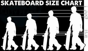 Skateboard Size Chart Skateboard Accessories Skateboard