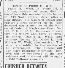 Phillip Wolf Obituary 1913 - Newspapers.com