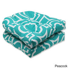 Pillow Perfect Outdoor Carmody Wicker Seat Cushions Set of 2