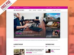 Newspaper Web Template Free 7 Best Free Magazine Psd Website Templates