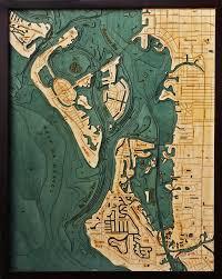 Nautical Wood Charts Siesta Key 3 D Nautical Wood Chart 24 5 X 31