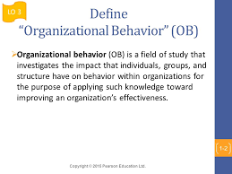 What Is Organizational Behavior Chapter 1 What Is Organizational Behavior Ppt Video