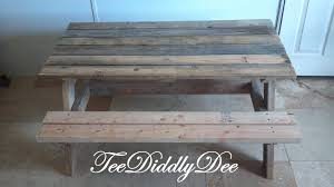 ana white how to build a kid size picnic table out of old recycled pallets diy projects