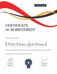 Corporate Certificate Template Achievement Corporate Certificate Design Template In PSD Word 16