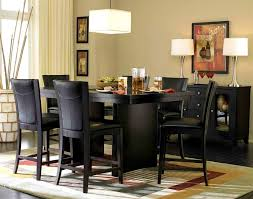house stunning black counter height dining set 12 appealing with leaf 9 piece oak and round