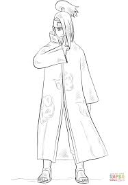 Small Picture Deidara from Naruto coloring page Free Printable Coloring Pages