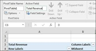 customizing a pivot table in excel 2016