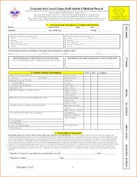 Boy Scout Medical Form Form Inspiring Bsa Medical Form Bsa Medical Form 6