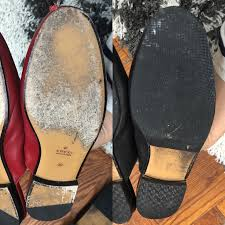 before after gucci slides sole repair brooklyn blonde
