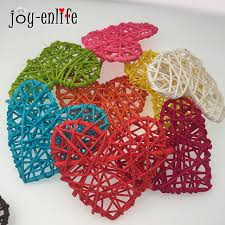 Decorative Cane Balls Delectable JOY ENLIFE 32pcs Colorful Heart Rattan Wicker Cane Decor Balls Home
