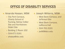 Presented By Amanda Hassan Msw Disability Services Coordinator