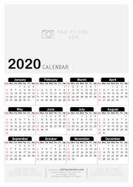 Free Printable Yearly Calendar 2020