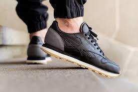 reebok classic leather on feet