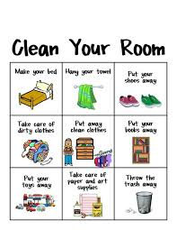 Clean Room Chart Printable Make It Easy For Your Pre Reader To Clean Her Room With This