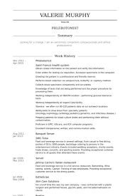 Sample Resume For Resumes Examples Phlebotomist Resume Examples ...