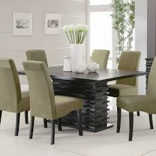 Contemporary Casual Dining Room With Sleek Design And Unique Table - Casual dining room ideas