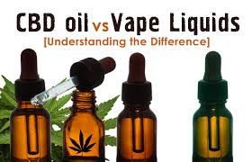 what s the difference between cbd oil and cbd vape liquid