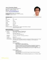 Sample Of Cv For Job Application Resume For Abroad Format Templates