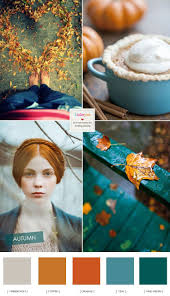 Teal and Copper Autumn Wedding Colour