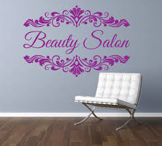 personalised beauty salon spa nail bar custom business name monogram shabby  on wall art business names with personalised beauty salon spa nail bar custom business name