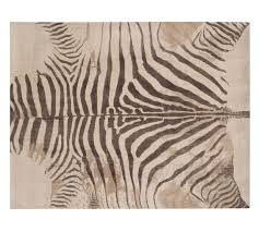 zebra printed rug pottery barn pottery barn brown zebra rug