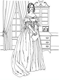 Small Picture Victorian woman vintage fashion challenging coloring pages for