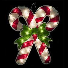Lighted Candy Cane Decorations