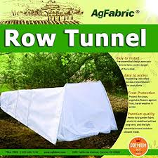 amazon mini grow tunnel greehouse tunnel garden 0 9oz plant row cover with 6pcs steel hoops garden greenhouse frost protection 10 long x 25 high