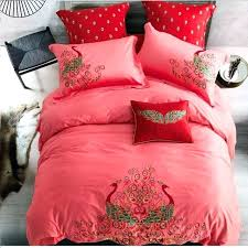 dark red bedding dark red pea embroidery bedding set lace duvet cover bed sheet pillowcase bed dark red bedding