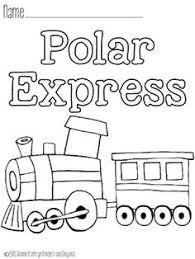 Polar Express Train Coloring Page Printable Sheets Pinterest