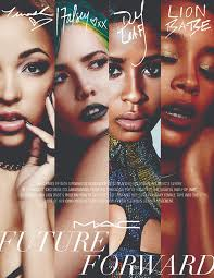 halsey tinashe lion and dej loaf to front m a c cosmetics future forward caign exclusive
