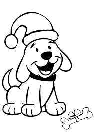 Free Online Christmas Puppy Colouring Page Checklist Puppy