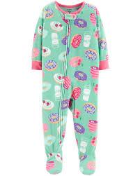 Carters Sleepers Size Chart 1 Piece Donut Fleece Pjs Carters Com