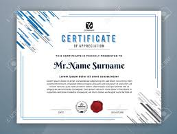 Certification Template Multipurpose Modern Professional Certificate Template Design