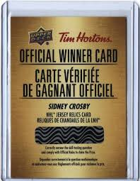2018 19 ud tim hortons sidney crosby winner card jersey relic cards ssp ebay