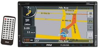 pyle pldnv695b touchscreen bluetooth car stereo w gps check out this powerful in dash multimedia touchscreen video headunit from pyle it s equipped everything you ve come to expect gps auxiliary inputs