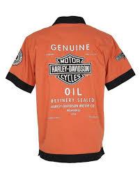 harley davidson orange shirt m