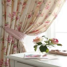 Shabby Chic Floral Kitchen Curtains