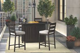 outdoor bar table and chairs. Perrymount 5-Piece Outdoor Bar Table Set, , Large And Chairs