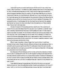 reflective essays about english class edu essay