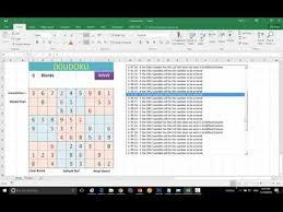 Advanced Vba Excel Macro Sudoku Solver Youtube