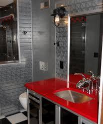 industrial lighting bathroom. Industrial Lighting Bathroom. Rustic Cast Guard Fixtures Put Some Vrooom In Remodeled Bath Bathroom G