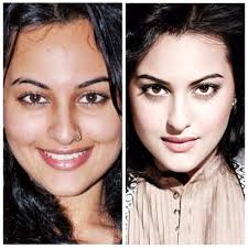 the dabangg actress still glows without her makeup on as is evident from this picture with or without makeup sonakshi s smile doesn t seem to differ