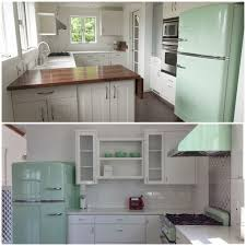 Green And White Kitchen Sparkling White Kitchens With Big Chill Appliances