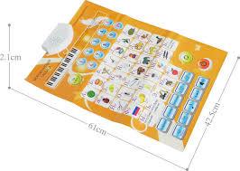 Number Flip Chart Kids Russian Sound Wall Chart Language Abc Alphabet Number