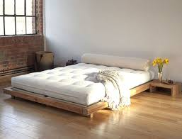 Bedroom Low Wooden Bed White Single Bed Frame Low Upholstered Bed ...