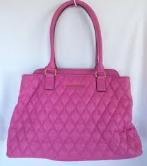 Vera Bradley Magenta Pink Quilted Leather Tote Purse Handbag ... & VERA BRADLEY Magenta Pink Quilted Leather Tote Purse Handbag Shoulder Bag  NEW Adamdwight.com