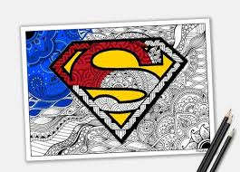 How to draw accessories for girls|coloring pages for girls lips,lipstic,mobile,shoes and nail polish. Superman Coloring Page Zentangle Superhero Printable Etsy