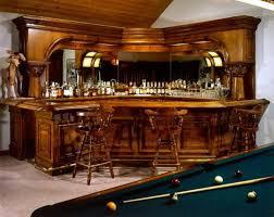 ... Traditional Home Bar design nestled in a corner